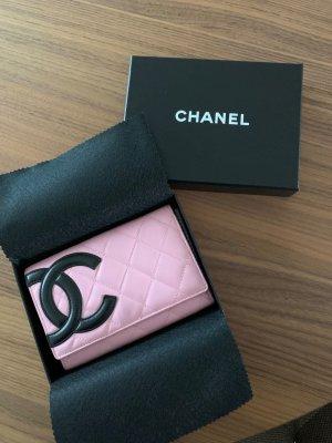 Chanel Portemonnee roze-zwart Leer