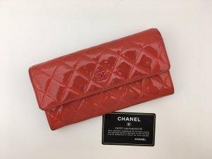 Chanel Portafogli rosso chiaro Pelle