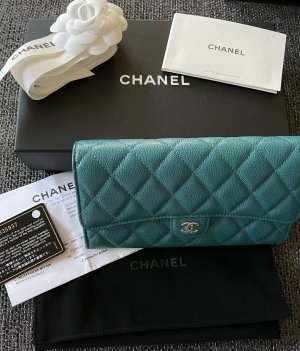 Chanel Wallet petrol leather