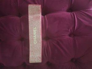 Chanel Cintura in tessuto color oro rosa-rosso scuro