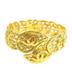 Chanel Gold-Tone CC Bangle