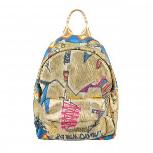 CHANEL Graffiti Printed Street Chic Backpack @mylovelyboutique.com