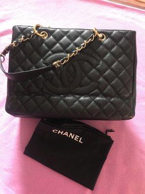 Chanel Comprador negro-color oro