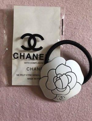 Chanel Nastro per capelli bianco-nero
