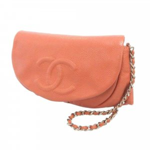 Chanel Half Moon Caviar Leather Wallet on Chain