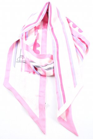 Chanel Neckerchief pink-white casual look