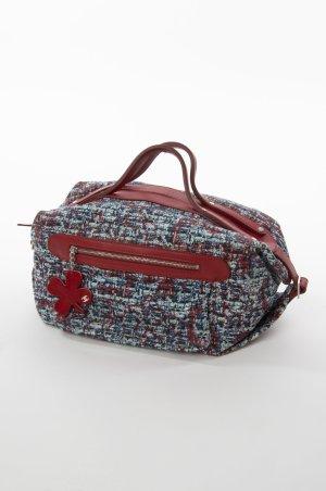 CHANEL - Handtasche im Bouclé-Look Rot-Blau