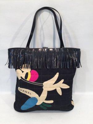 CHANEL Handtasche mit Muster und Fransen