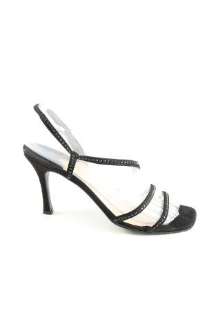 Chanel High Heel Sandaletten schwarz Casual-Look