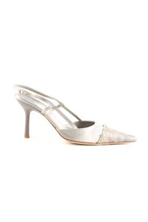 Chanel High Heels hellgrau-silberfarben Casual-Look