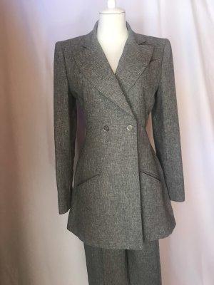 Chanel Tailleur pantalone grigio Lino
