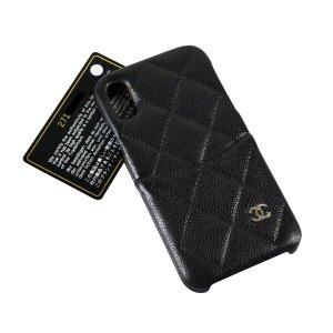 Chanel Custodia per cellulare nero Pelle
