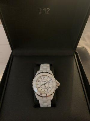 Chanel Fermoir de montre blanc-argenté