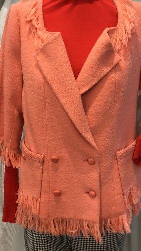 Chanel Chaqueta de lana salmón