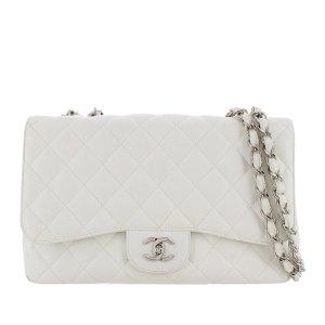 Chanel Jumbo Classic Caviar Leather Flap Bag