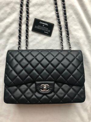 Chanel Jumbo Classic Flap Bag,schwarz, Lammleder, IDCard, wie neu