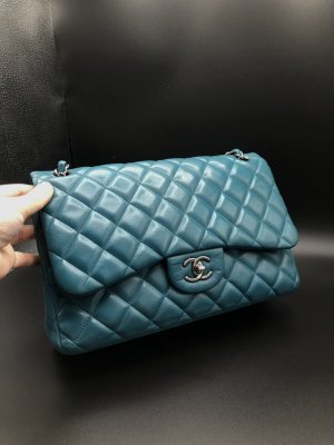 Chanel Jumbo Tasche Double bag Türkis