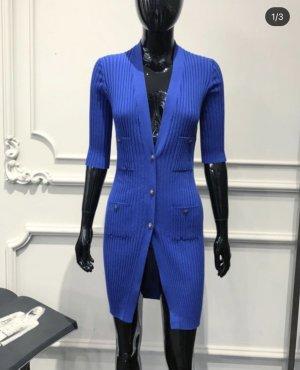Chanel Szydełkowany sweter niebieski