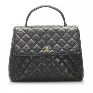 Chanel Kelly Caviar Leather Handbag