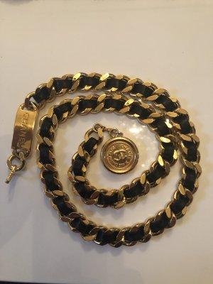 Chanel Kettingriem zwart-goud