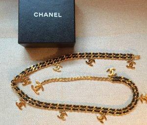 Chanel Ceinture en chaîne doré-noir métal