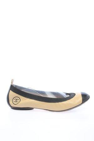 Chanel Klassische Ballerinas creme-schwarz Casual-Look