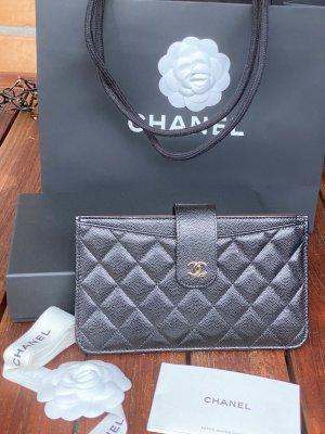 Chanel Klassisches Etui aus schwarzem Kalbsleder-neu!