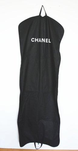 Chanel Pokrowiec na ubrania czarny-biały Len
