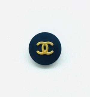 Chanel Button dark blue-gold-colored