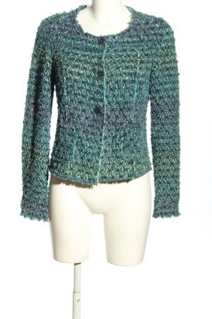 Chanel Kurz-Blazer blau-grün Casual-Look