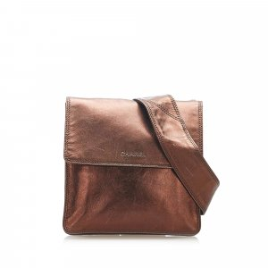 Chanel Crossbody bag brown leather