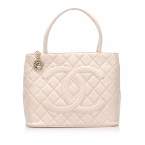 Chanel Lambskin Medallion Tote Bag