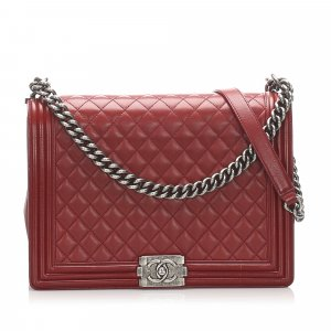 Chanel Large Boy Lambskin Leather Flap Bag