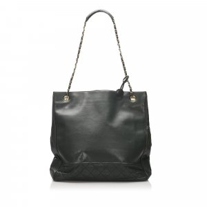 Chanel Tote dark green leather