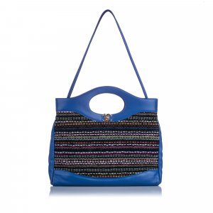 Chanel Tote blue wool