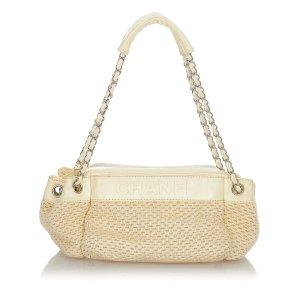 Chanel Shoulder Bag beige wool