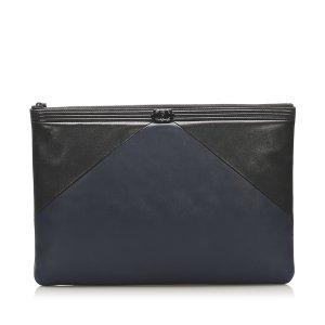 Chanel Pochette bleu cuir