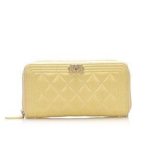 Chanel Le Boy Lambskin Leather Long Wallet