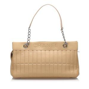 Chanel Leather Chocolate Bar Shoulder Bag