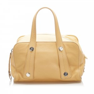 Chanel Handbag yellow leather