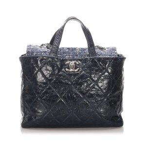 Chanel Leather Tweed Portobello Tote Bag