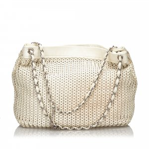 Chanel Leather Woven Shoulder Bag