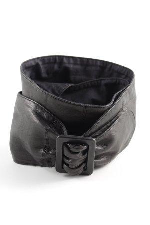 Chanel Ceinture en cuir noir style décontracté