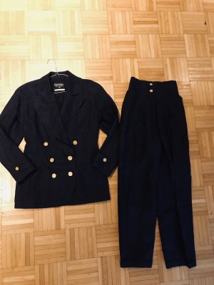 Chanel Trouser Suit dark blue linen
