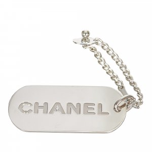 Chanel Key Chain silver-colored metal