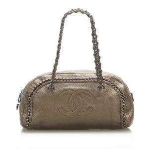 Chanel Handbag bronze-colored leather