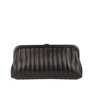 Chanel Mademoiselle Ligne Lambskin Leather Clutch Bag