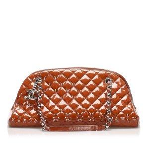 Chanel Shoulder Bag red imitation leather