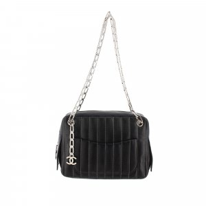 Chanel Mademoiselle Stitch Lambskin Leather Shoulder Bag