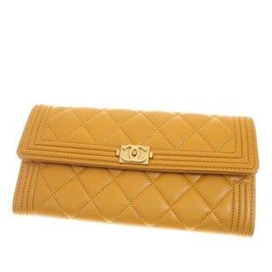 Chanel Portafogli giallo Pelle